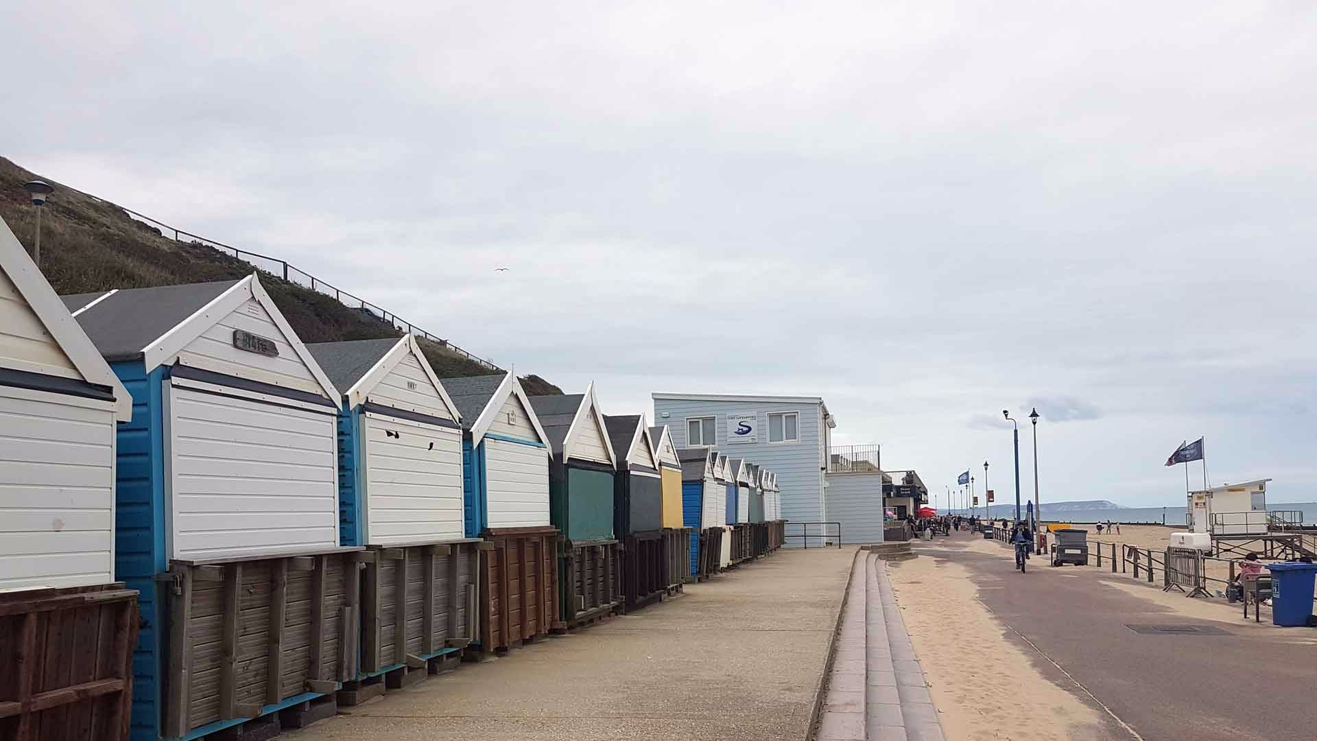 <b>southbourne-on-sea-gallery2.jpg</b> <br/> Huts in Southbourne before the Bistro on the beach area